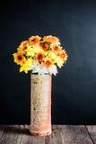 Chrysanthemum in ceramic vase Royalty Free Stock Photos