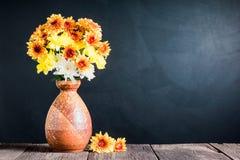 Chrysanthemum in ceramic vase Stock Photos