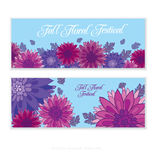 Chrysanthemum flower card template design. Royalty Free Stock Image