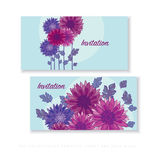 Chrysanthemum flower card template design. Royalty Free Stock Images