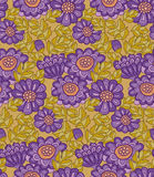 Chrysanthemum flower seamless design. Royalty Free Stock Images