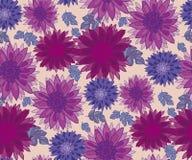 Chrysanthemum flower tile design element. Stock Image