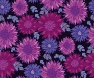 Chrysanthemum flower tile design element. Royalty Free Stock Photos