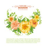 Chrysanthemum garland. Stock Image