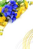 Chrysanthemum and gentian Stock Images