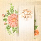 Chrysanthemum holiday card. Stock Photography