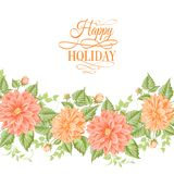 Chrysanthemum holiday card. Royalty Free Stock Photography