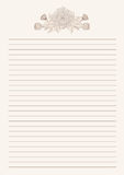 Chrysanthemum letter  paper vector on brown background. Chrysanthemum letter  paper vector on white background.Chrysanthemum flower by hand drawing.Floral tattoo Stock Image