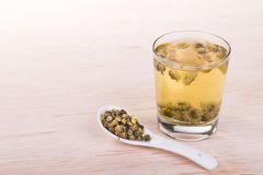 Chrysanthemum tea traditional remedy to improve eyesight, clear. Chrysanthemum tea is traditional Asian Chinese remedy to improve eyesight and clear liver heat stock image