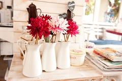 Chrysanthemum in white vase Royalty Free Stock Photo