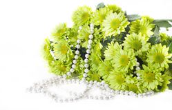 Chrysanthemums and pearl 2 Royalty Free Stock Image