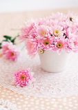 chrysanthemums roses Photos libres de droits