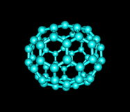 Chrysene molecular structure on black background Royalty Free Stock Images