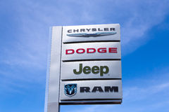 Chrysler Automobile Dealership Stock Images