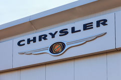 Chrysler automobile dealership sign Royalty Free Stock Images