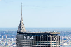 Chrysler Bldg and Metlife Bldg Stock Photo
