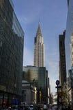 Chrysler budynku widok od 42nd ulicy Fotografia Royalty Free