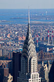 Chrysler Building. Antenna and top of the Chrysler Building in New York from the Empire State Building observatory Royalty Free Stock Photos