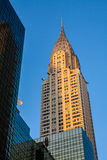 Chrysler Building. The Chrysler Building is an Art Deco style skyscraper in New York City, located on the east side of Manhattan in the Turtle Bay area at the Royalty Free Stock Image