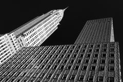 Chrysler Building B&W Stock Photo