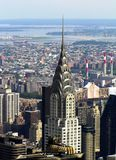Chrysler Building close-up from the top point, New York, USA stock photo