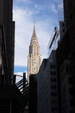 Chrysler Building & East 43rd St, NY Royalty Free Stock Photo