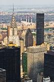 Chrysler building from the Empire State. With other buildings royalty free stock photography