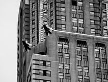 Chrysler Building Facade. Detailed Architecture of the Chrysler Building in New York City Stock Images