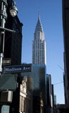 Chrysler building by Madison ave. A shot of the Chrysler building from Madison ave Royalty Free Stock Photo
