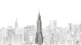 Chrysler building. NEW YORK CITY  The Chrysler building was the world's tallest building (319 m) before it was surpassed by the Empire State Building in 1931, on Royalty Free Stock Image