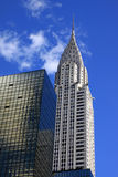 The Chrysler building in New York CityThe Chrysler building in. NEW YORK CITY, NY, USA - OCTOBER  12: Chrysler Building in the day with street on October 12 Stock Photos