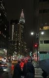 Chrysler building by night, New York, USA Royalty Free Stock Photos