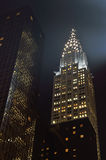 Chrysler Building at night. Royalty Free Stock Images