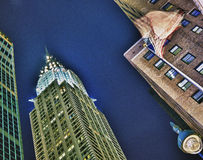 Chrysler Building at night. Stock Photography