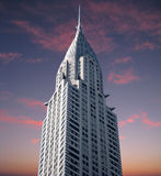 Chrysler Building at sunset Royalty Free Stock Image