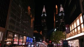 Chrysler Building. Took this picture in New York, on a empty street of the Chrysler Building Stock Images