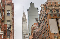 Chrysler Building on a winter Cloudy Day Stock Image