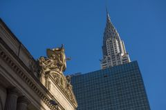 Chrysler byggnad vid den Grand Central stationen Royaltyfri Bild