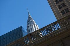 Chrysler byggnad vid den Grand Central stationen Arkivfoto