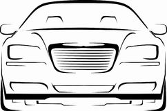 2011 chrysler 300. Cool design Chrsler 300 for your stickers, T-shirt, etc Royalty Free Stock Photo
