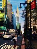 Chrysler, das NY NY errichtet lizenzfreie stockfotografie