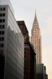Chrysler, das NYC errichtet Lizenzfreies Stockbild