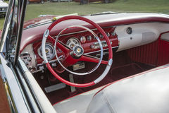Chrysler dashboard. Dashboard vintage car, chrysler new yorker convertible stock images