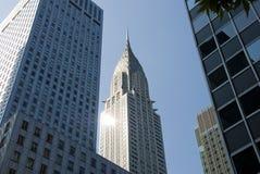 Chrysler die de Stad van New York bouwen Royalty-vrije Stock Afbeeldingen
