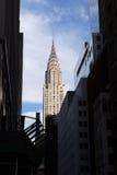 Chrysler-Gebäude u. Ost43. St., NY Lizenzfreies Stockfoto