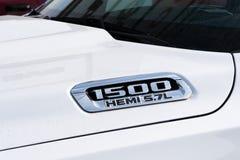 Chrysler Hemi Truck with Trademark Logo royalty free stock photos
