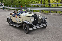 Chrysler 75 (1929) in historic race Mille Miglia Royalty Free Stock Photos