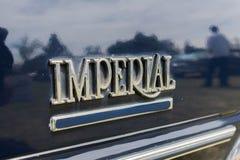 Chrysler imperialistiskt emblem på skärm Arkivfoton