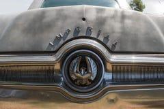 Chrysler imperialistiskt LeBaron emblem på skärm Arkivfoto