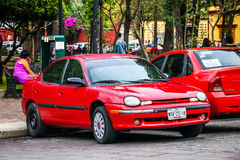Chrysler neon royaltyfri bild